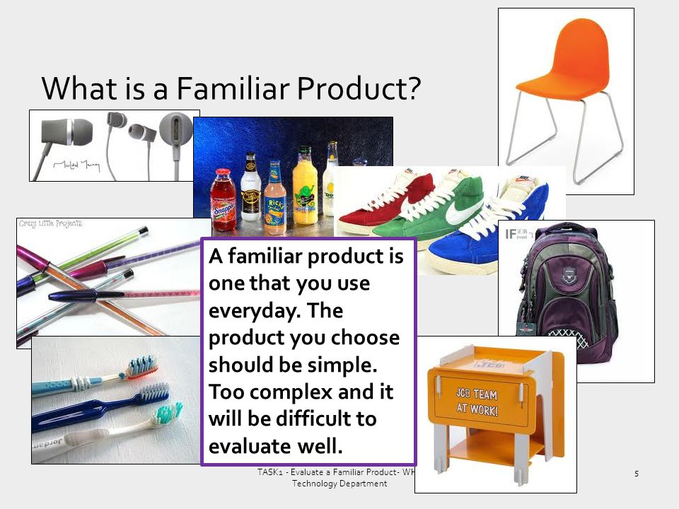What is a Familiar Product