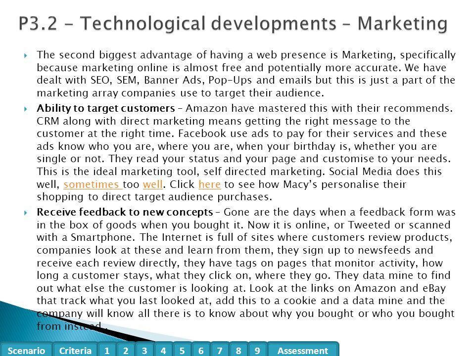 P3.2 - Technological developments – Marketing