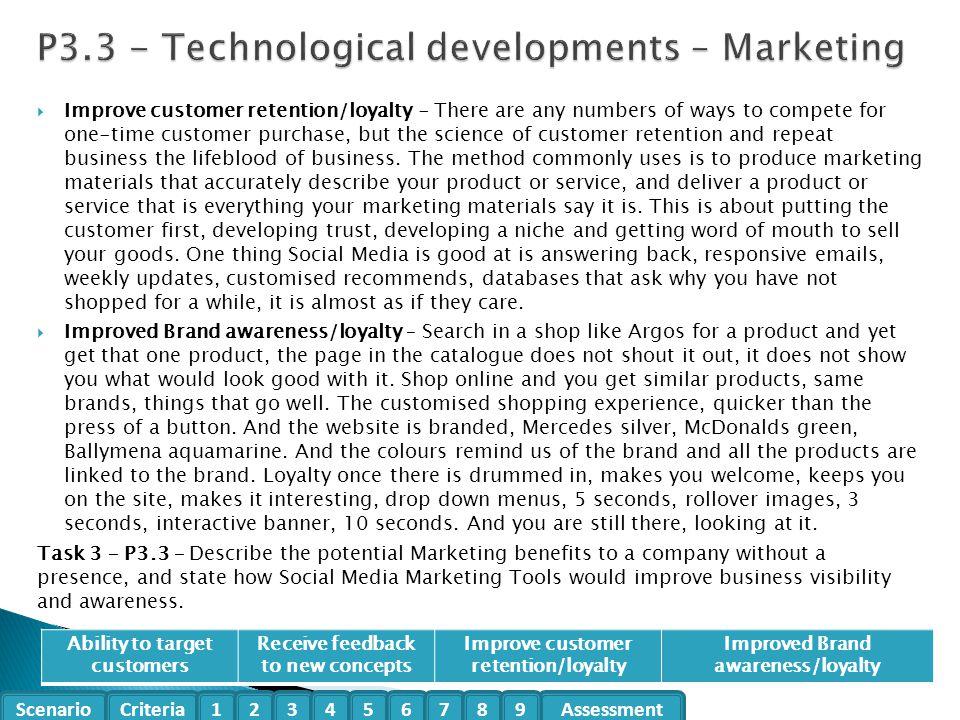 P3.3 - Technological developments – Marketing