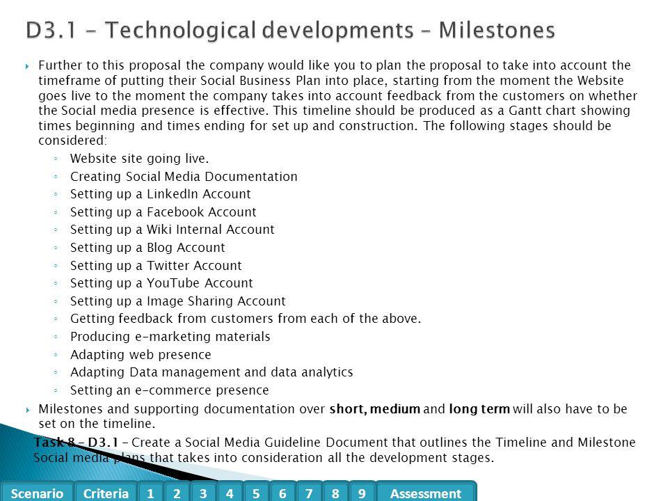 D3.1 - Technological developments – Milestones