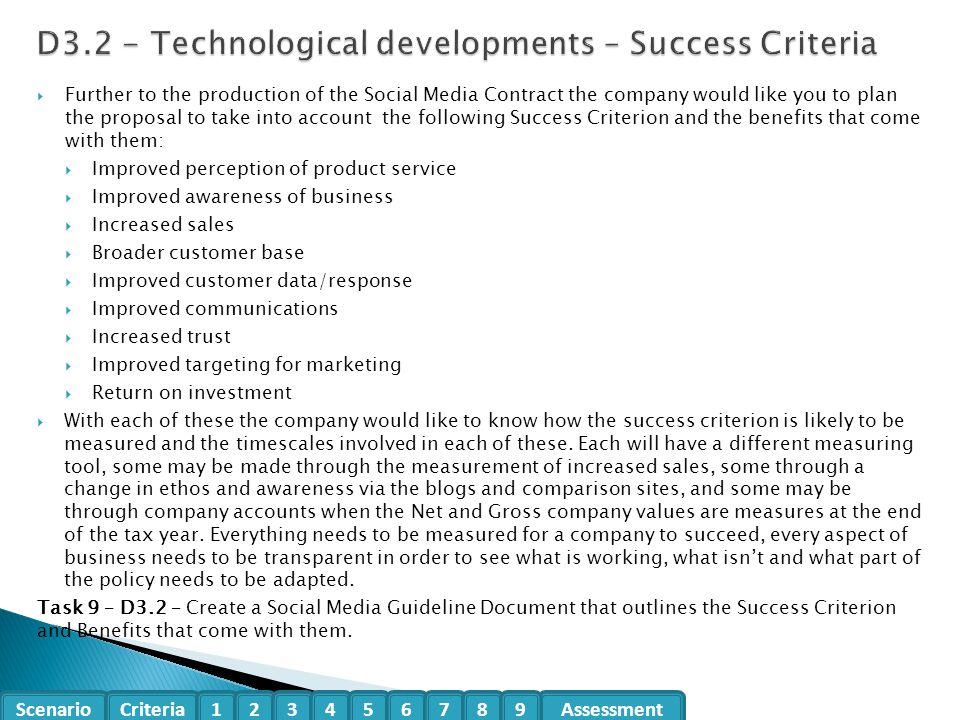 D3.2 - Technological developments – Success Criteria