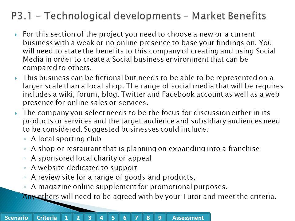P3.1 - Technological developments – Market Benefits