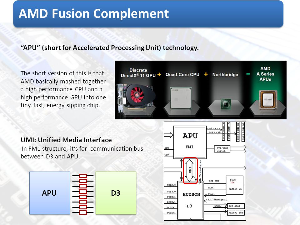 AMD Fusion Complement APU D3