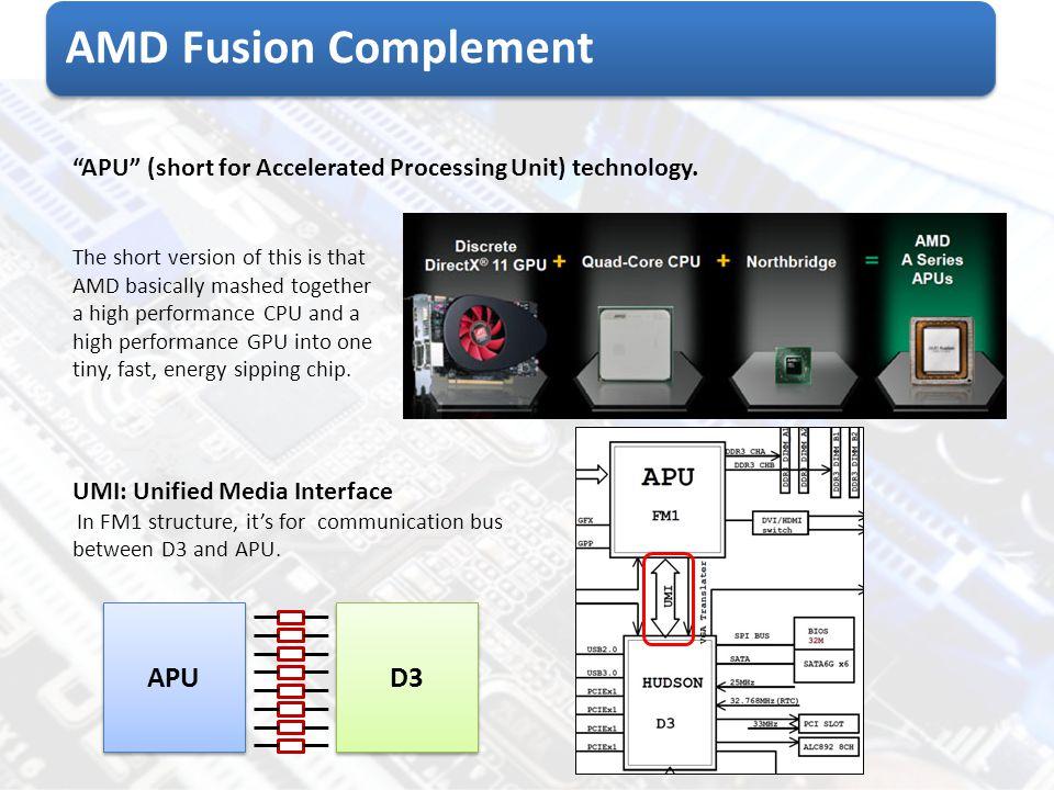 AMD Fusion Complement APU D3
