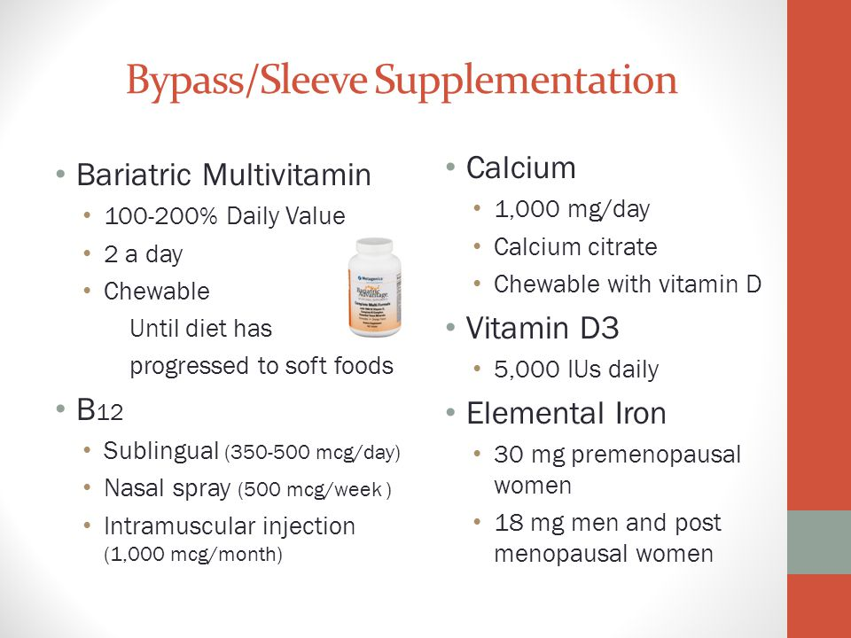 Bypass/Sleeve Supplementation