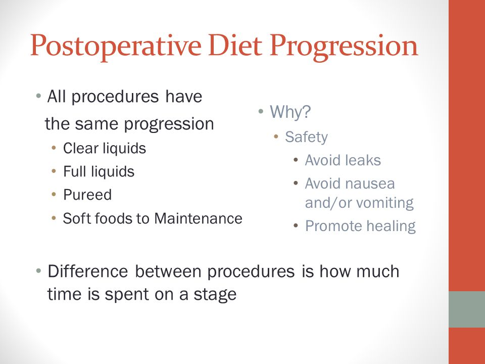 Postoperative Diet Progression