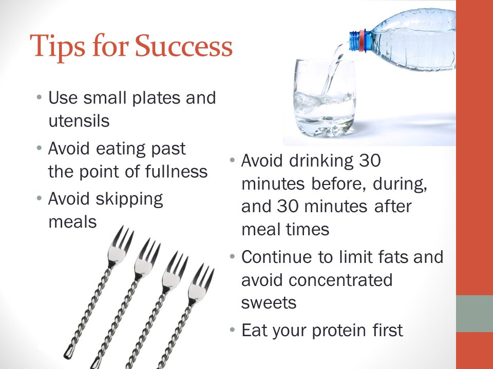Tips for Success Use small plates and utensils