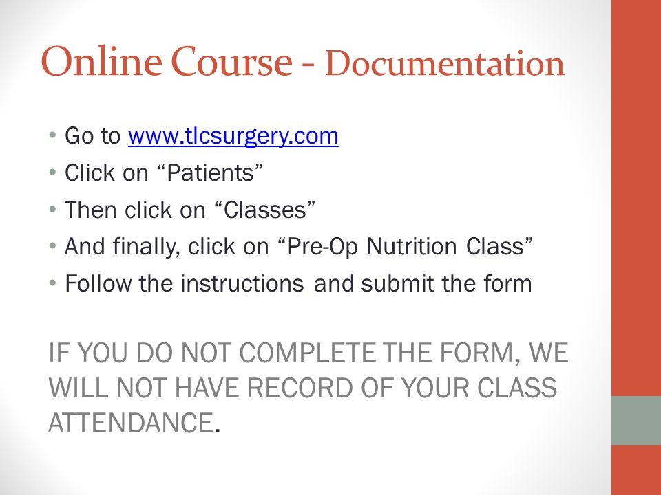 Online Course - Documentation
