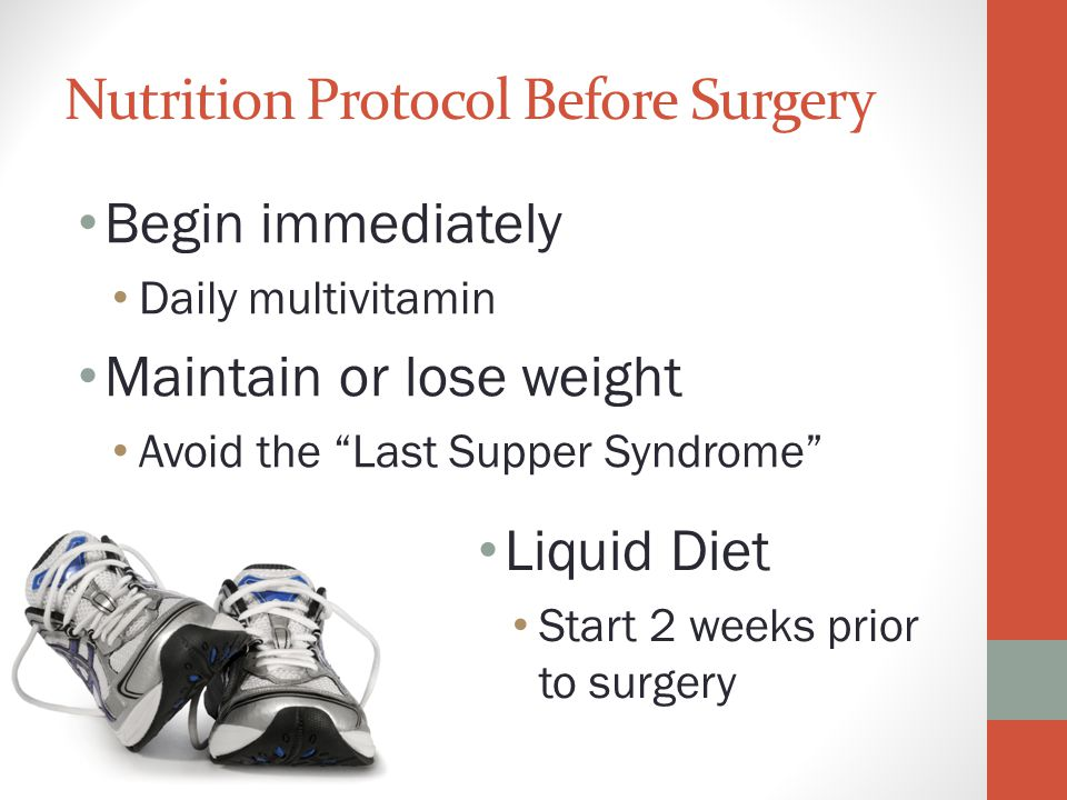 Nutrition Protocol Before Surgery