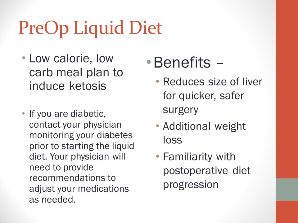 liquid diet plan before lap band surgery