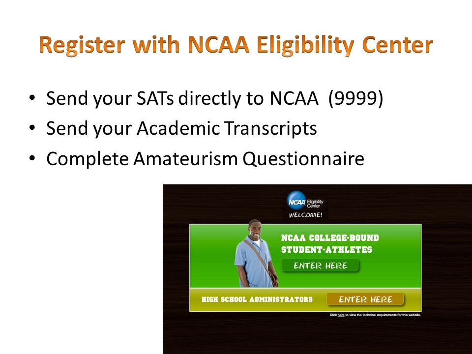 Register with NCAA Eligibility Center