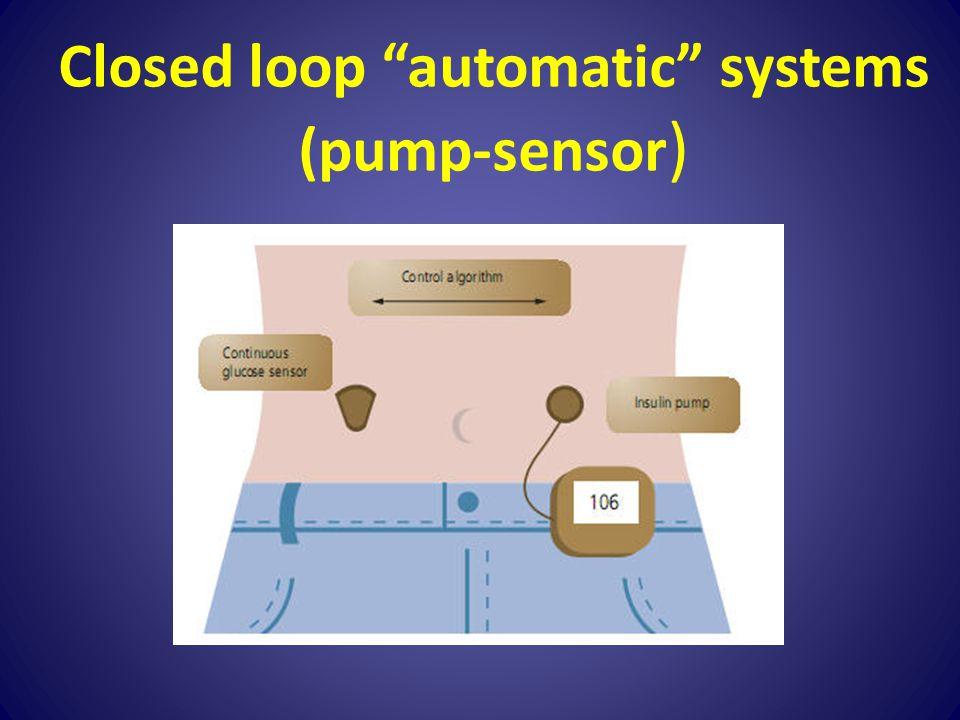 Closed loop automatic systems (pump-sensor)
