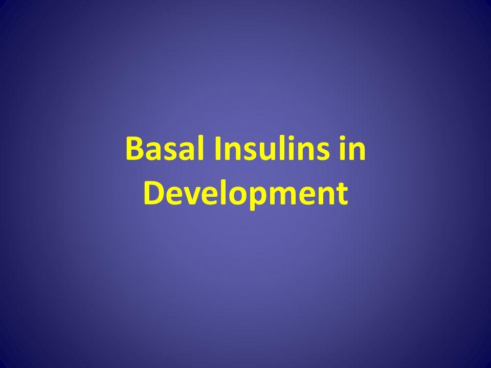 Basal Insulins in Development