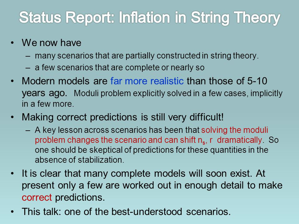 Status Report: Inflation in String Theory