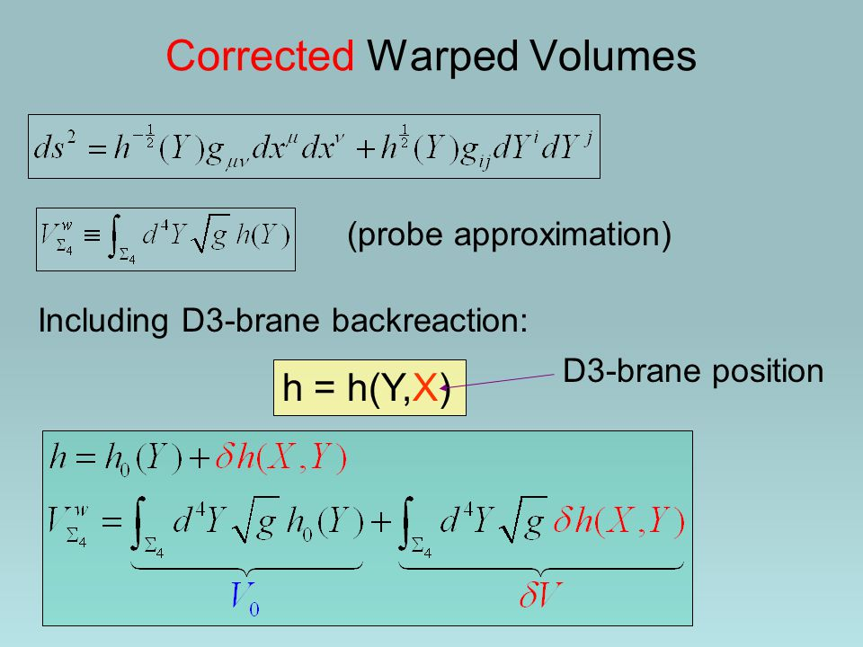 Corrected Warped Volumes
