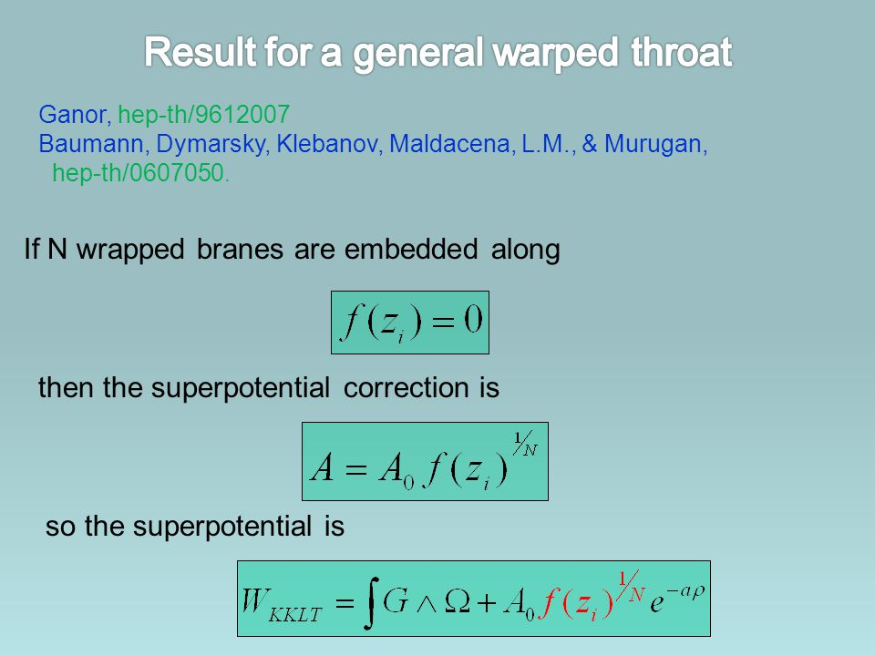 Result for a general warped throat