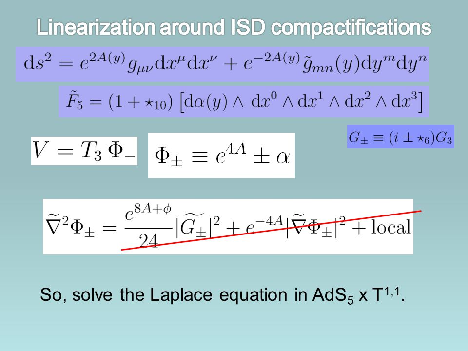 Linearization around ISD compactifications