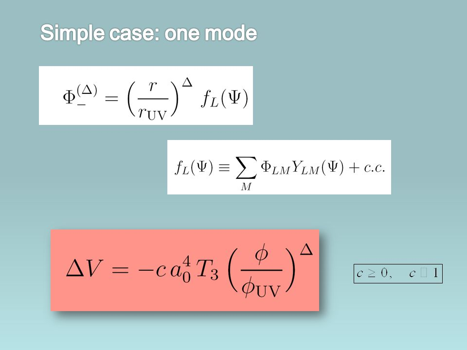 Simple case: one mode