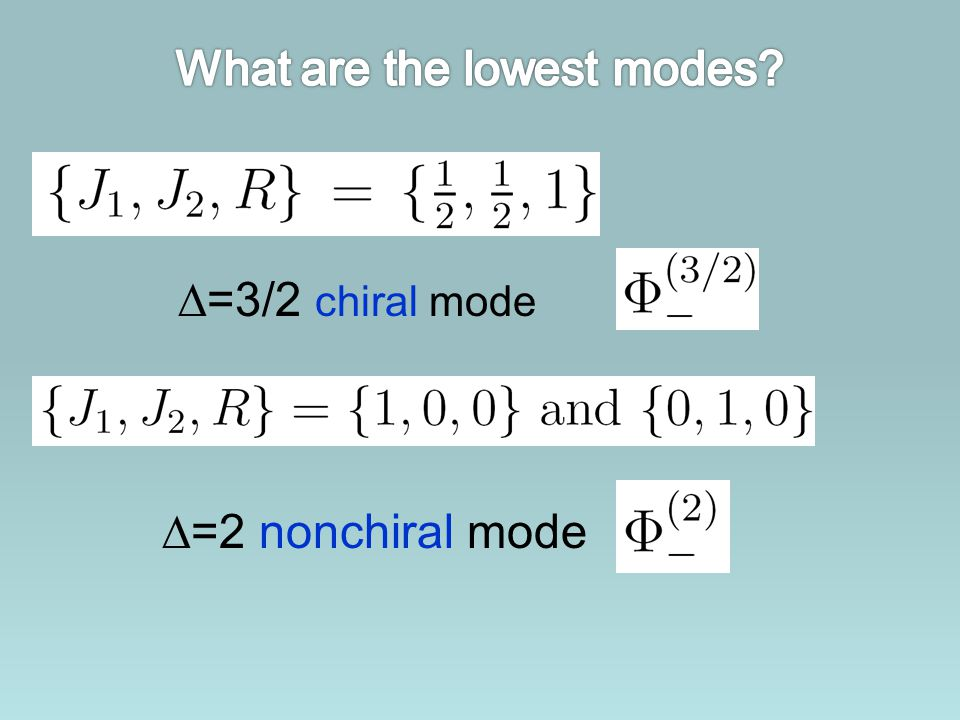 What are the lowest modes