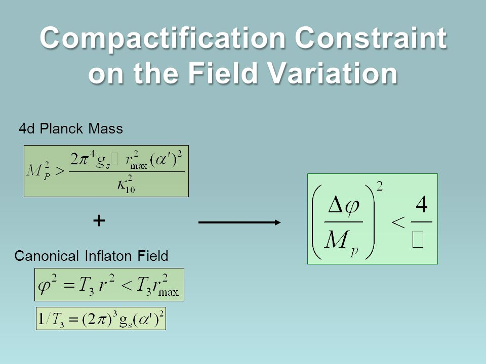 Compactification Constraint on the Field Variation