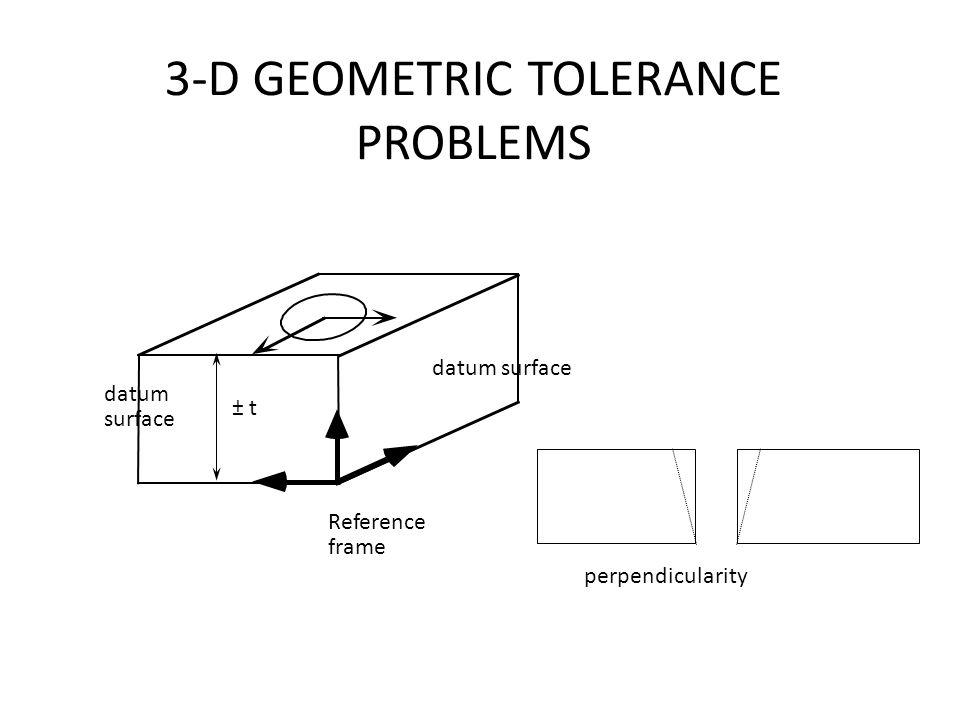3-D GEOMETRIC TOLERANCE PROBLEMS