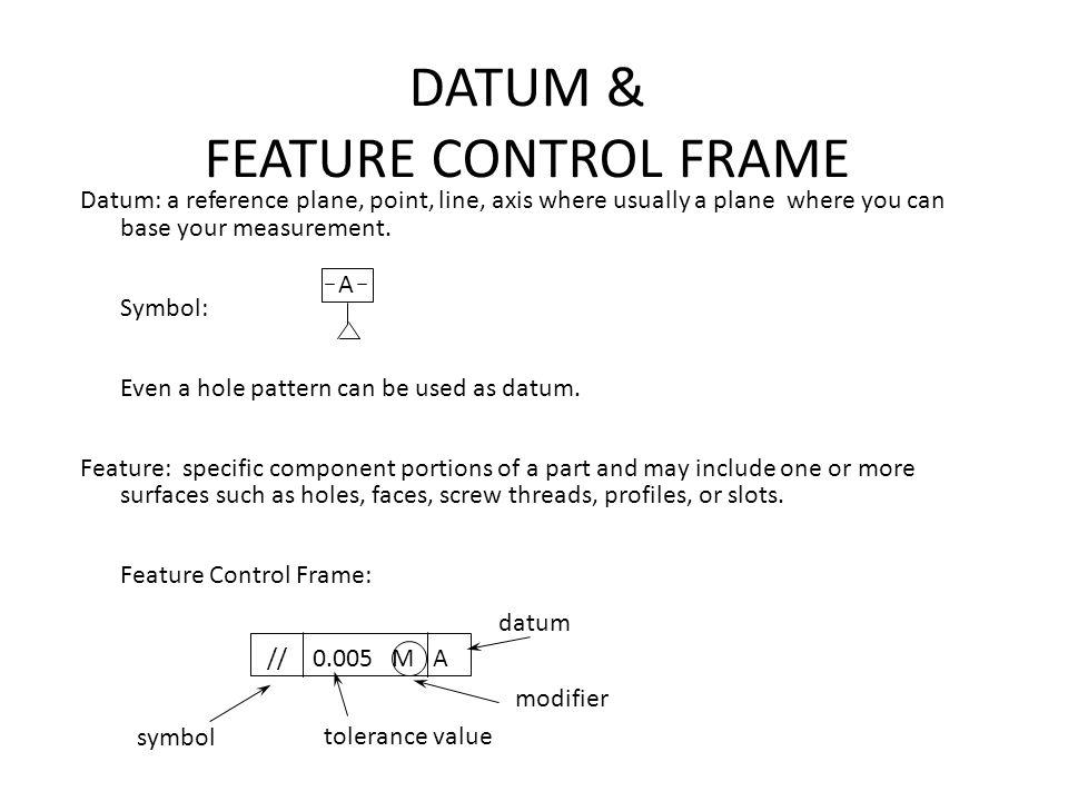 DATUM & FEATURE CONTROL FRAME