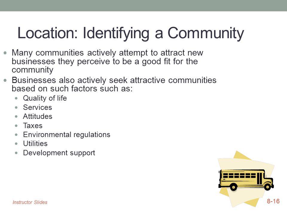 Location: Identifying a Community