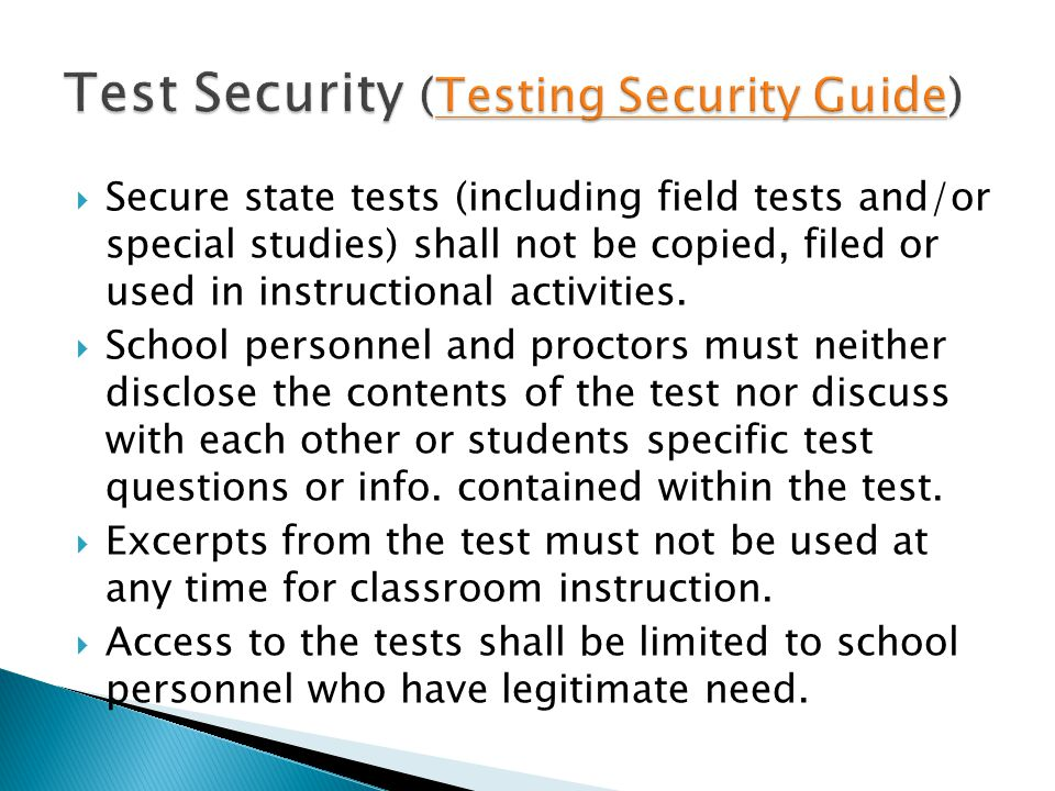 Test Security (Testing Security Guide)