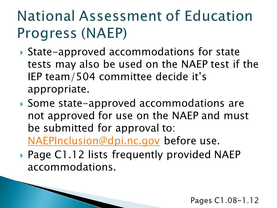 National Assessment of Education Progress (NAEP)
