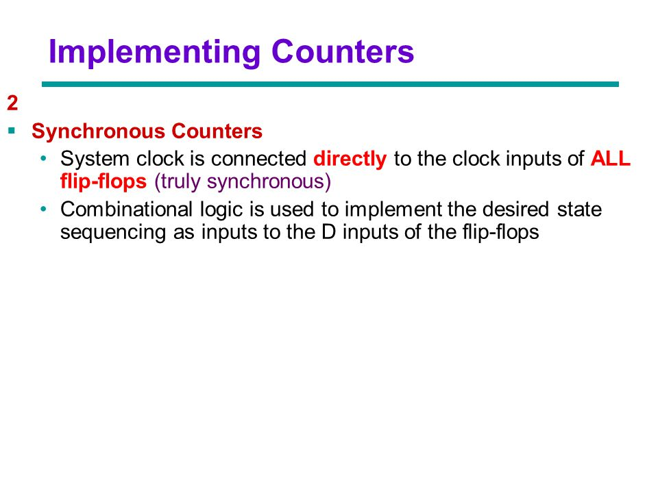 Implementing Counters