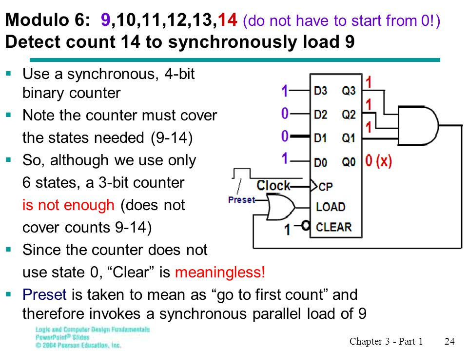 Modulo 6: 9,10,11,12,13,14 (do not have to start from 0
