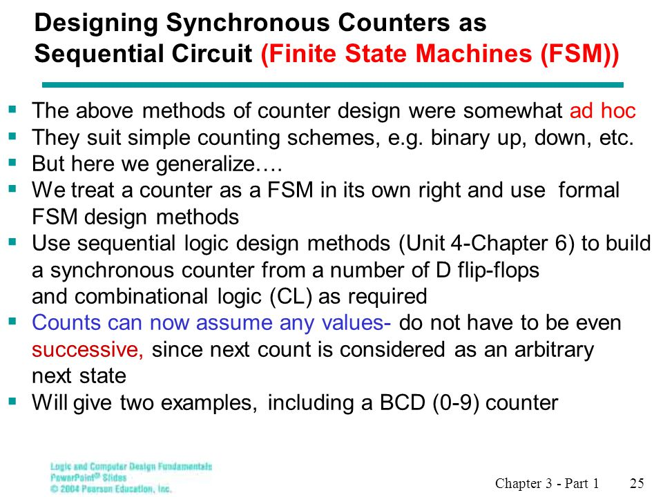 Designing Synchronous Counters as Sequential Circuit (Finite State Machines (FSM))