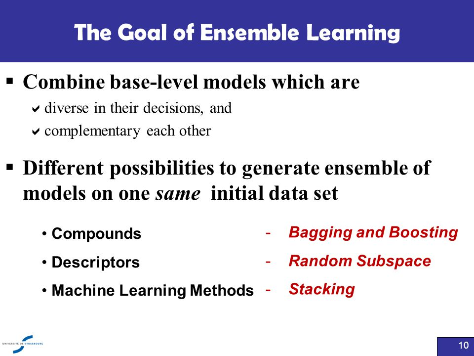 The Goal of Ensemble Learning