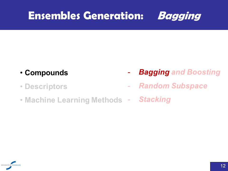Ensembles Generation: Bagging