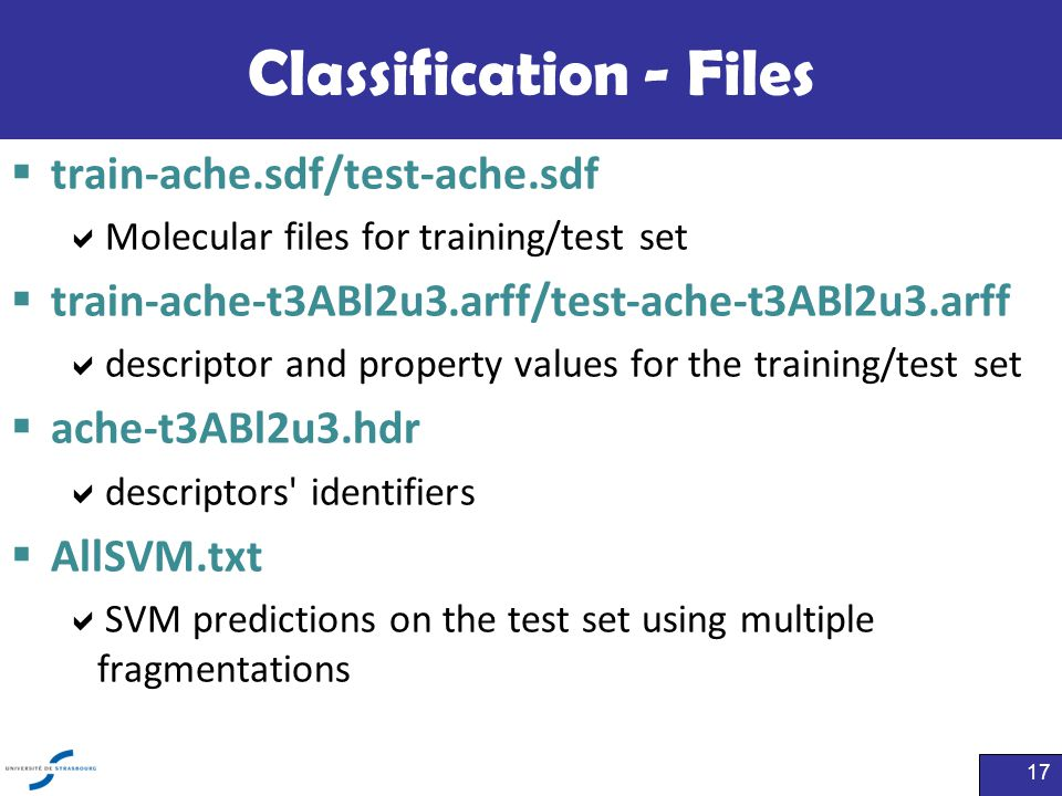 Classification - Files