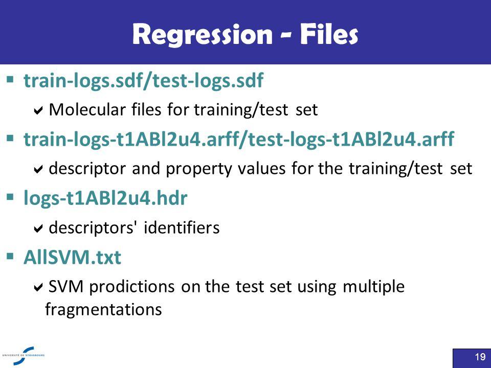 Regression - Files train-logs.sdf/test-logs.sdf