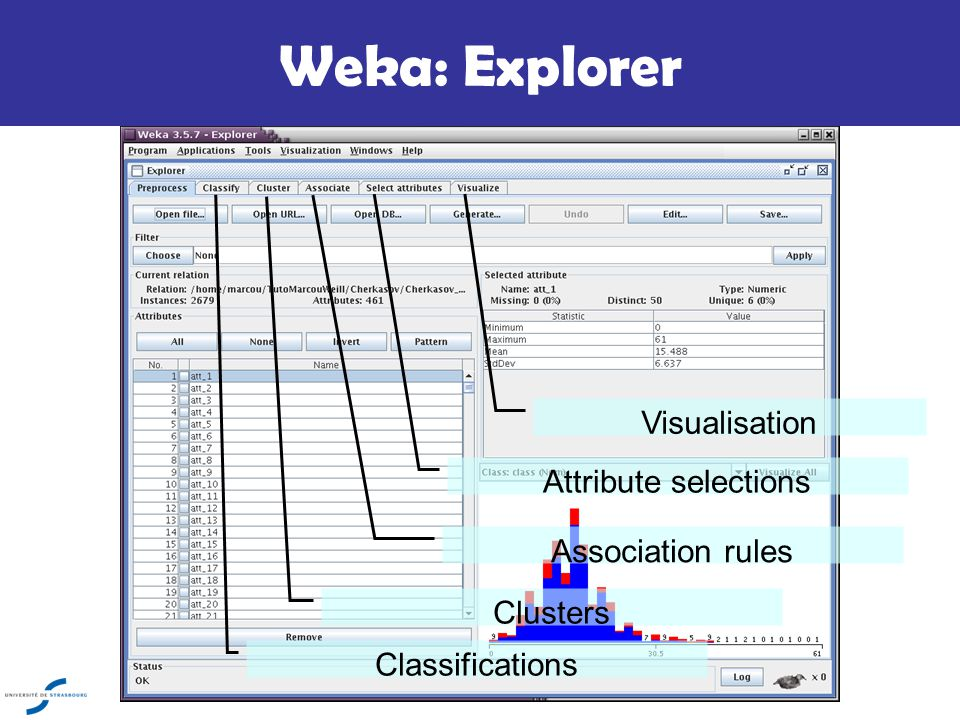 how to read cluster output on weka