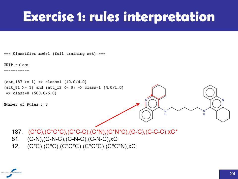 Exercise 1: rules interpretation