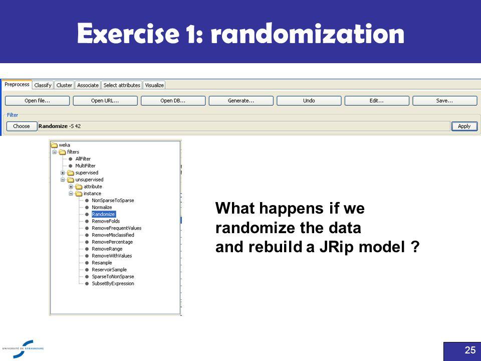 Exercise 1: randomization