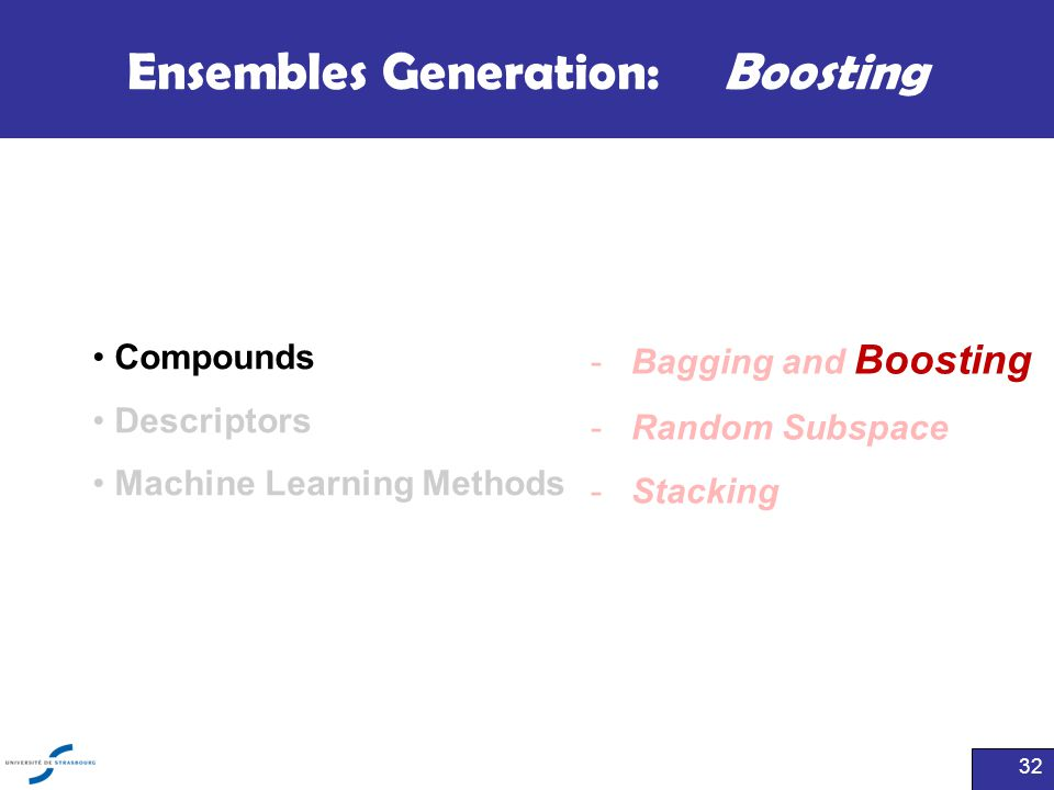 Ensembles Generation: Boosting