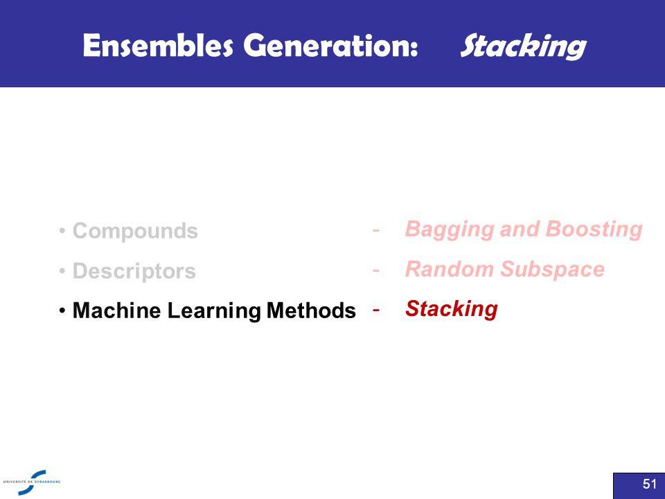 Ensembles Generation: Stacking