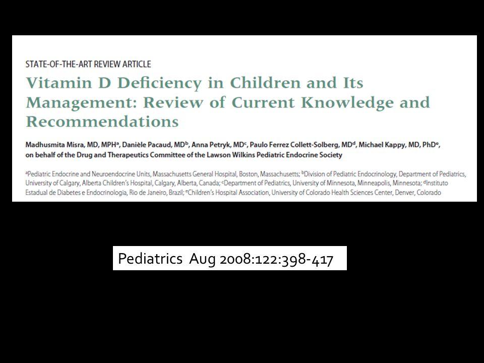 Pediatrics Aug 2008:122:398-417