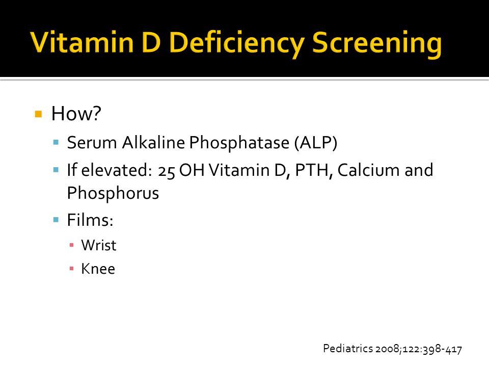 Vitamin D Deficiency Screening