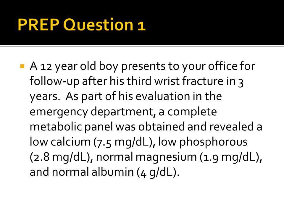 PREP Question 1