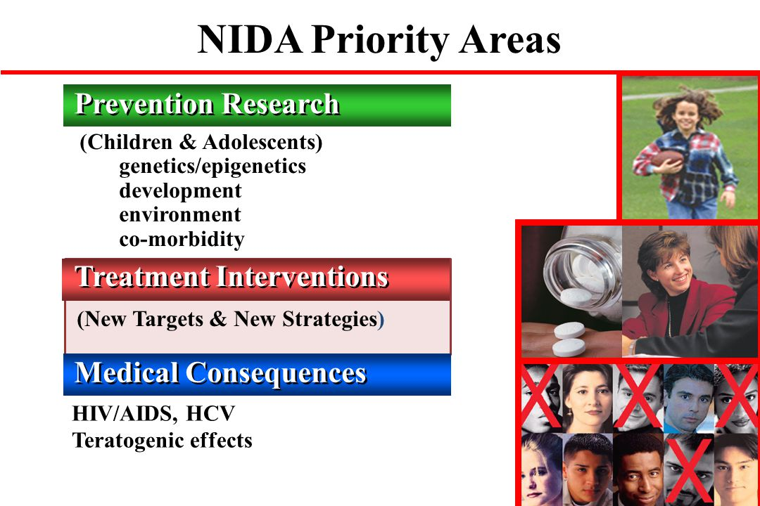 NIDA Priority Areas Prevention Research Treatment Interventions