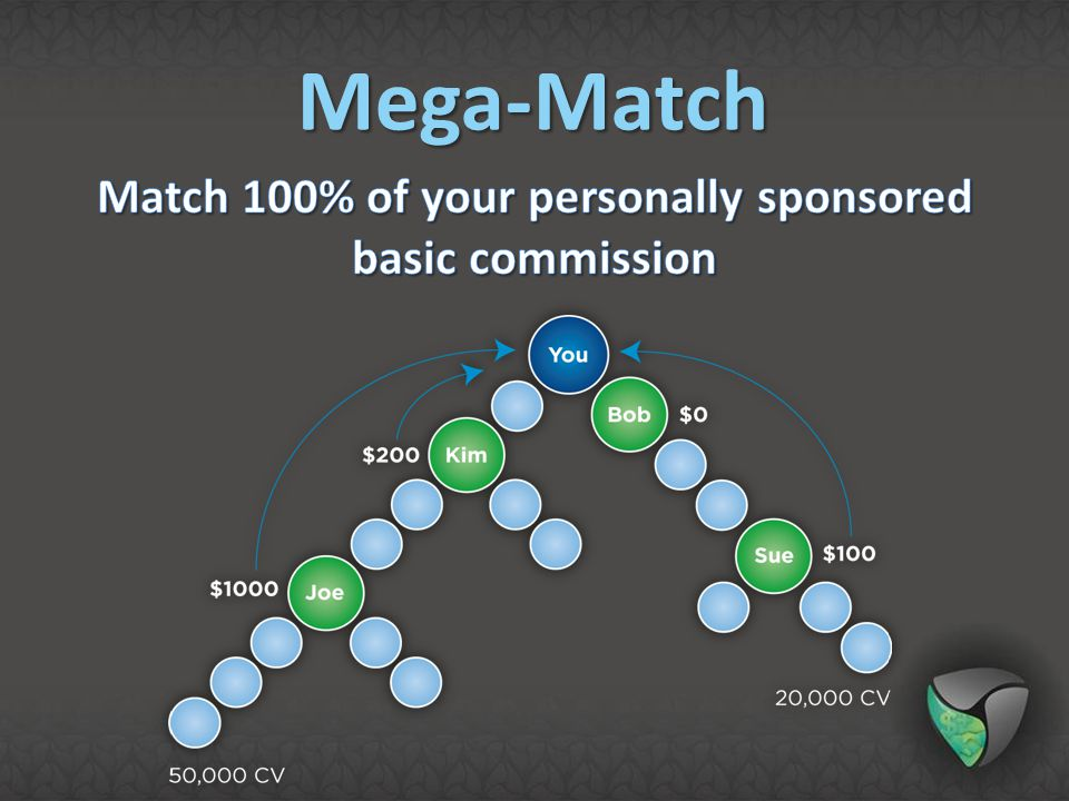 Match 100% of your personally sponsored