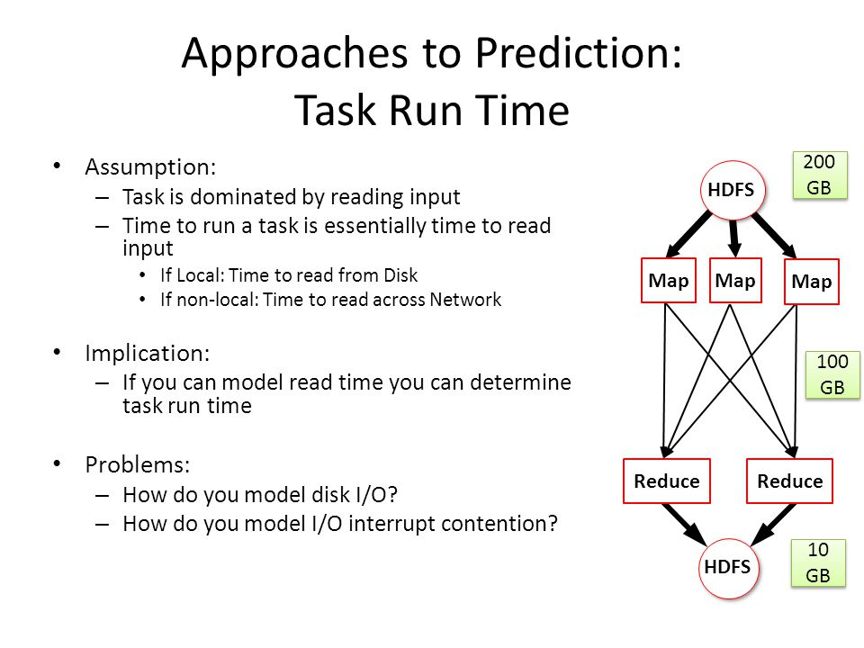 Approaches to Prediction: Task Run Time