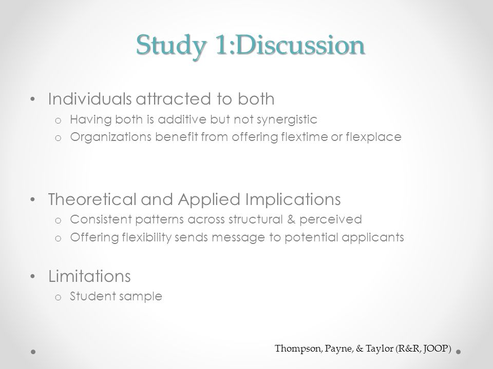 Study 1:Discussion Individuals attracted to both