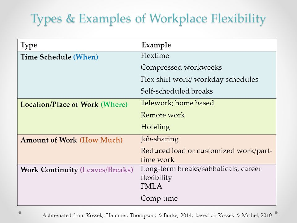 Types & Examples of Workplace Flexibility