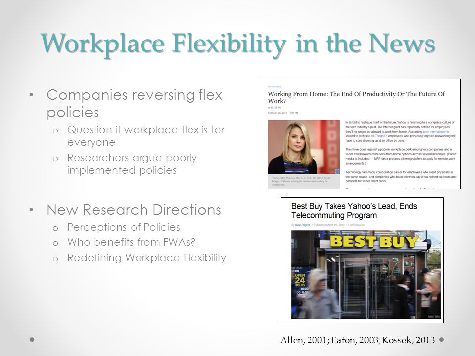 Workplace Flexibility in the News